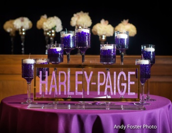 Plexi cut NOT printed candle lighting display